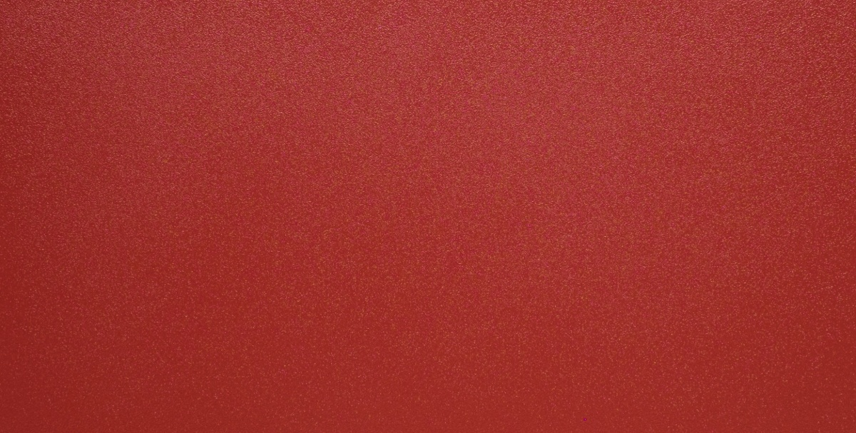 Red Powder Coated Sample